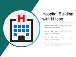 Hospital Building With H Icon