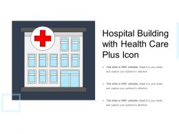 Hospital Building With Health Care Plus Icon