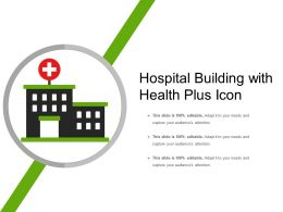 Hospital Building With Health Plus Icon
