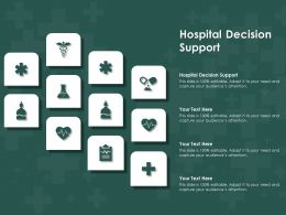 Hospital Decision Support Ppt Powerpoint Presentation Pictures Example Topics
