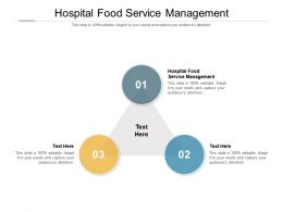 Hospital Food Service Management Ppt Powerpoint Presentation Slides Portfolio Cpb