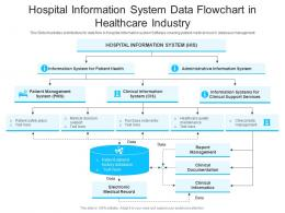 Hospital Information System Data Flowchart In Healthcare Industry