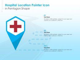 Hospital Location Pointer Icon In Pentagon Shape