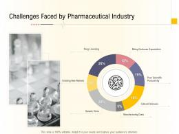 Hospital Management Business Plan Challenges Faced By Pharmaceutical Industry Ppt Powerpoint File