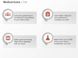 Hospital Medical Box Flask Research Ppt Icons Graphics