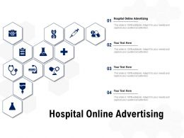 Hospital Online Advertising Ppt Powerpoint Presentation Show Slide