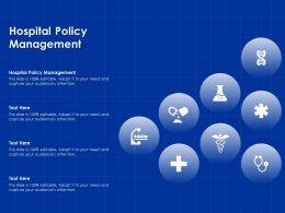 Hospital Policy Management Ppt Powerpoint Presentation Slides Portfolio