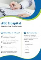 Hospital Promotion Two Page Flyer Template