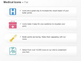 Hospital Symbol Medical Bag Thermometer Ecg Report Ppt Icons Graphics