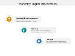 Hospitality Digital Improvement Ppt Powerpoint Presentation Model Aids Cpb