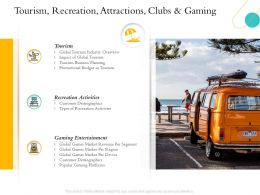 Hospitality Industry Overview Tourism Recreation Attractions Clubs And Gaming Ppts Icons