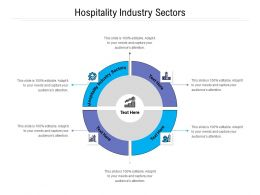 Hospitality Industry Sectors Ppt Powerpoint Presentation Pictures Cpb