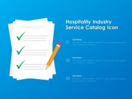 Hospitality Industry Service Catalog Icon