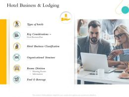 Hospitality Management Hotel Business And Lodging Organizational Structure Ppts Files