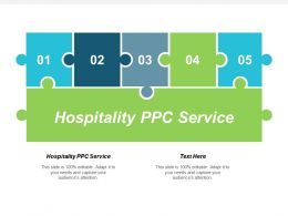 Hospitality Ppc Service Ppt Powerpoint Presentation Infographics Shapes Cpb
