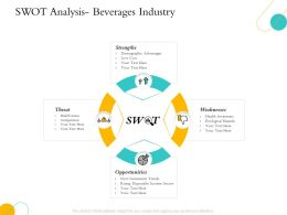 Hospitality Swot Analysis Beverages Industry Demographic Advantages Ppts Tips