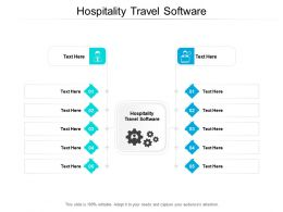 Hospitality Travel Software Ppt Powerpoint Presentation Layouts Samples Cpb