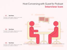 Host Conversing With Guest For Podcast Interview Icon