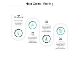 Host Online Meeting Ppt Powerpoint Presentation Professional Themes Cpb