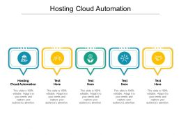 Hosting Cloud Automation Ppt Powerpoint Presentation Model Portfolio Cpb