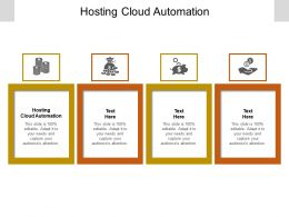 Hosting Cloud Automation Ppt Powerpoint Presentation Portfolio Information Cpb
