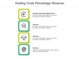 Hosting Costs Percentage Revenue Ppt Powerpoint Presentation Slides Good Cpb