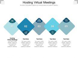 Hosting Virtual Meetings Ppt Powerpoint Presentation Slides Styles Cpb