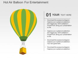 Hot Air Balloon For Entertainment Flat Powerpoint Design