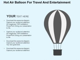 Hot Air Balloon For Travel And Entertainment Flat Powerpoint Design