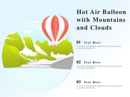 Hot Air Balloon With Mountains And Clouds