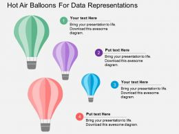 Hot Air Balloons For Data Representations Flat Powerpoint Design
