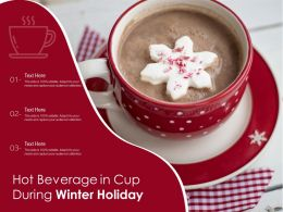 Hot Beverage In Cup During Winter Holiday