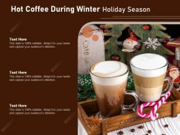 Hot Coffee During Winter Holiday Season