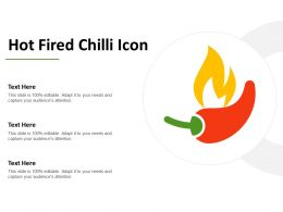 Hot Fired Chilli Icon