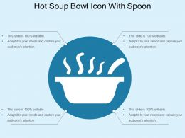Hot Soup Bowl Icon With Spoon