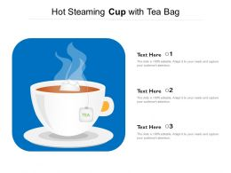 Hot Steaming Cup With Tea Bag