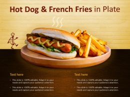 Hotdog And French Fries In Plate