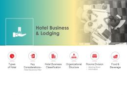 Hotel Business And Lodging Classification Ppt Powerpoint Presentation Show Slides