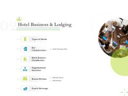 Hotel Business And Lodging Information Ppt Powerpoint Presentation Show Deck