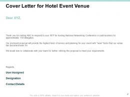 Hotel Event Venue Proposal Template Powerpoint Presentation Slides