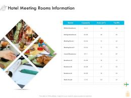 Hotel Meeting Rooms Information Ppt Powerpoint Presentation Layouts Outfit