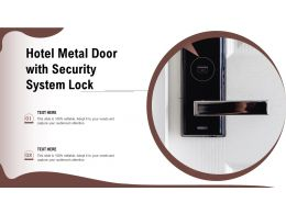 Hotel Metal Door With Security System Lock