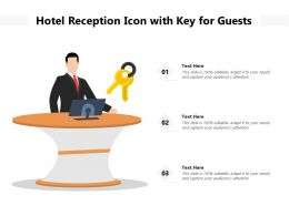 Hotel Reception Icon With Key For Guests
