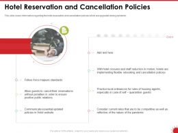 Hotel Reservation And Cancellation Policies Follow Ppt Powerpoint Presentation Good