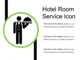 Hotel Room Service Icon