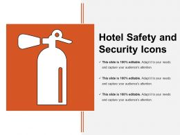 Hotel Safety And Security Icons 2