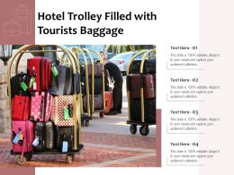 Hotel Trolley Filled With Tourists Baggage