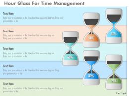 Hour Glass For Time Management Powerpoint Templates