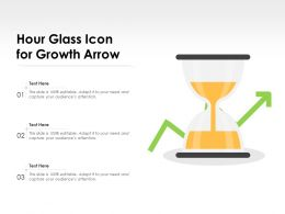 Hour Glass Icon For Growth Arrow