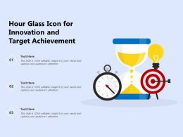 Hour Glass Icon For Innovation And Target Achievement